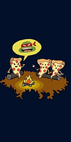 'Pizza Horror' Funny Turtle TV Show Cartoon Parody - Plywood Wood Print Poster Wall Art