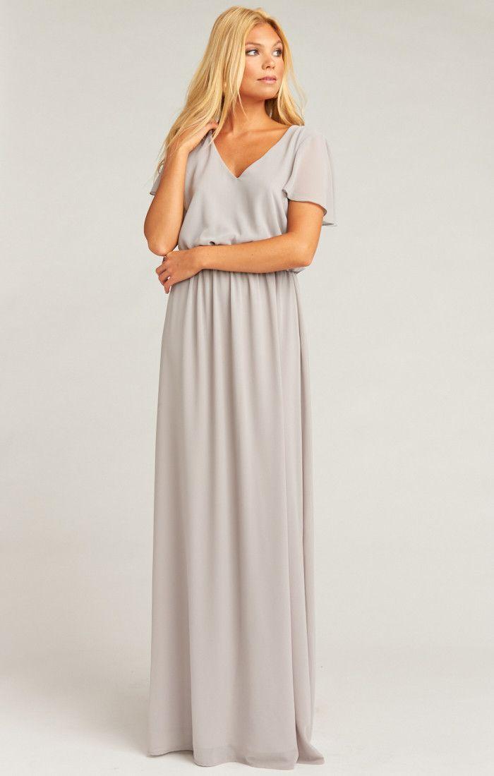 20++ Grey chiffon maxi dress info