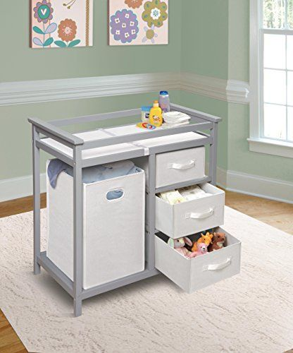 Badger Basket Modern Changing Table Gray
