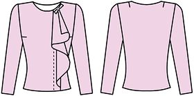 This is pretty great.  Russian site with illustrations how to alter a pattern to obtain various blouse styles.
