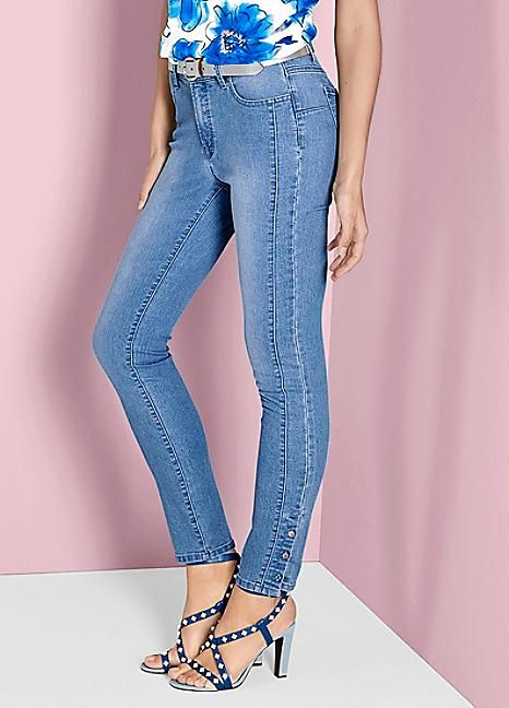 Ashley Brooke Button Jeans #Kaleidoscope #Jeans #Legday #Summer #Summercollection #Fashion #Legsfordays #Denim