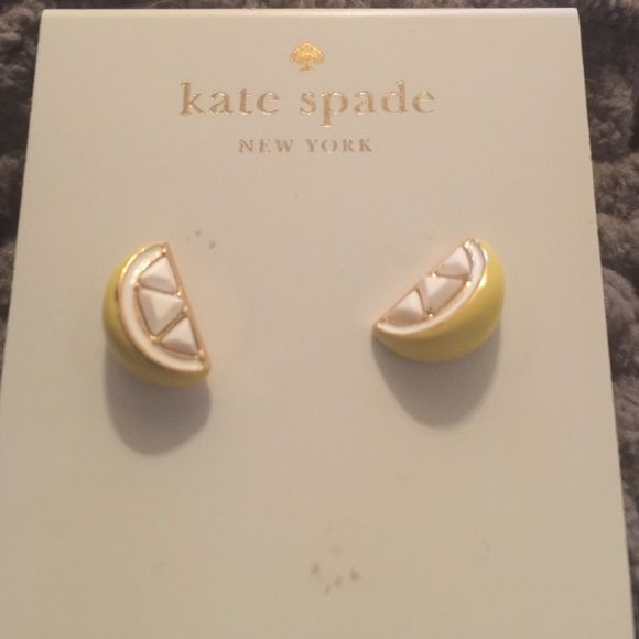 Kate spade lemon slice earrings Hard to find ! Lemon slice earrings. Never worn ! kate spade Jewelry Earrings