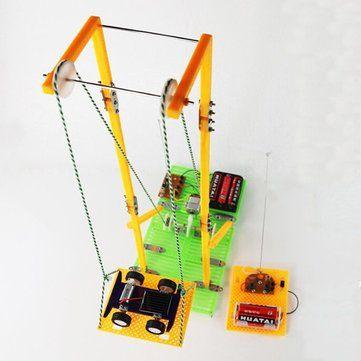 DIY Assembly Educational Toys Model RC Electric Elevator Sale - Banggood.com