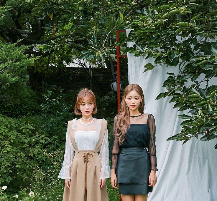 Køb Chuu Aftageligt-Suspender Lace-Up lang nederdel | YesStyle