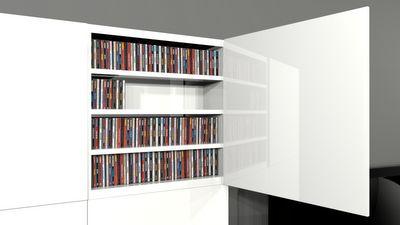 Organizing cds with Ikea's Besta furniture