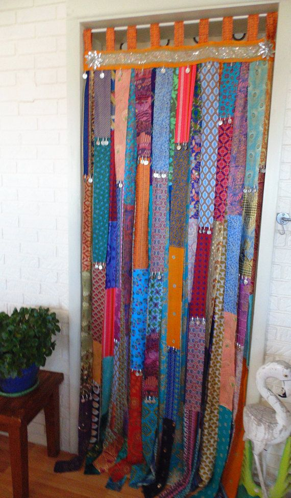 One Piece Walk Thru Door Curtain 35 Wide X 86 Long Two Layers