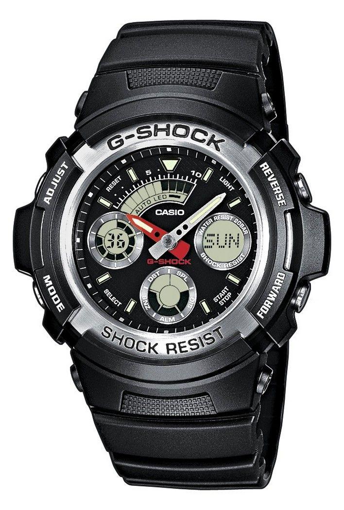Casio G-Shock AW-590-1AER férfi karóra. Letisztult, sportos külsőt kapott. A mai kornak megfelelően az óra elemes óraszerkezettel működik. Extrém vízállósággal készült ezért az óra könnyű búvárkodásra is alkalmas. KATTINTS IDE!