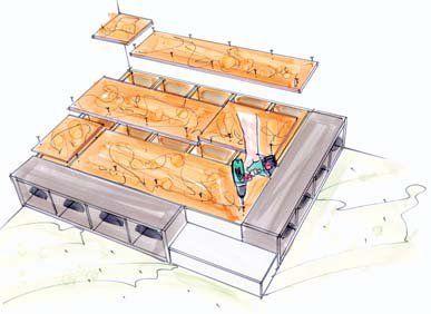 Kinderbett selber bauen schiff  Die besten 25+ Bodenbetten Ideen nur auf Pinterest | Angehobenes ...