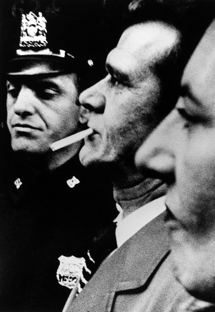 William Klein. Two heads and Cop, NY, 1955.