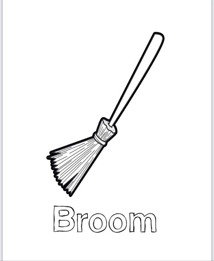 broom coloring pages - photo#4