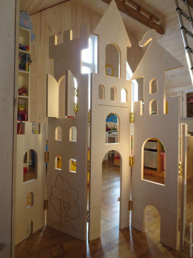 Купить Ширма Замок. - комбинированный, ширма, замок, принцесса, интерьерное украшение, интерьер детской