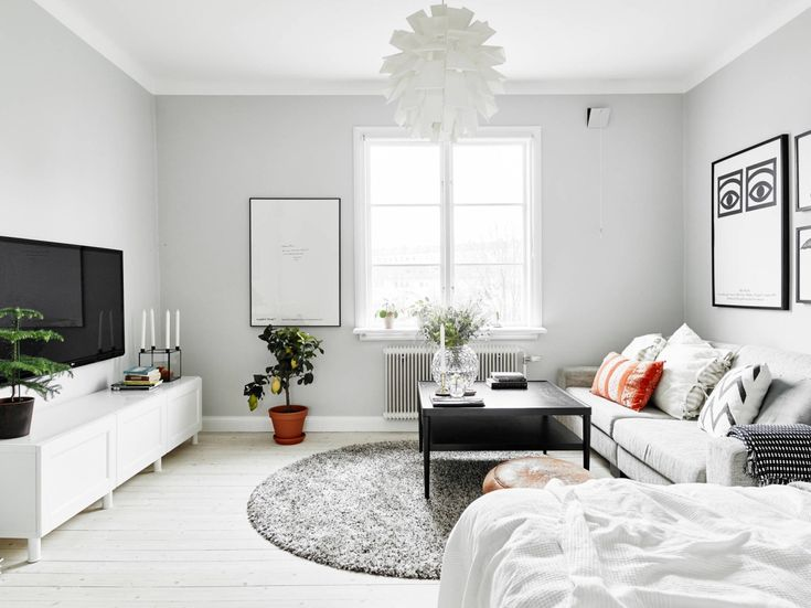 11 Gorgeous Studio Apartments To Inspire You Via A Palette Of Bright Grays  And Whites Emphasise The Flood Of Natural Light Coming From This Homeu0027s  Single ...