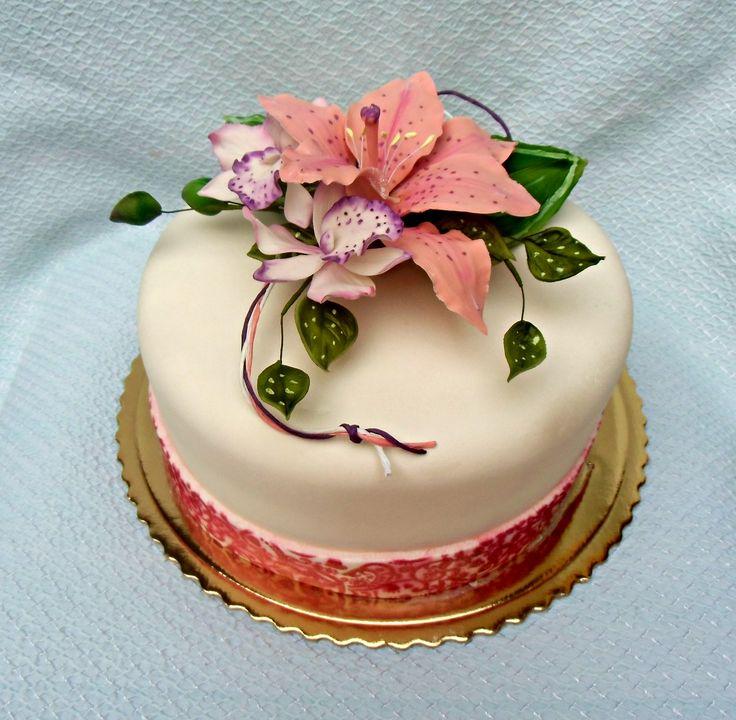 torta s kytičkou