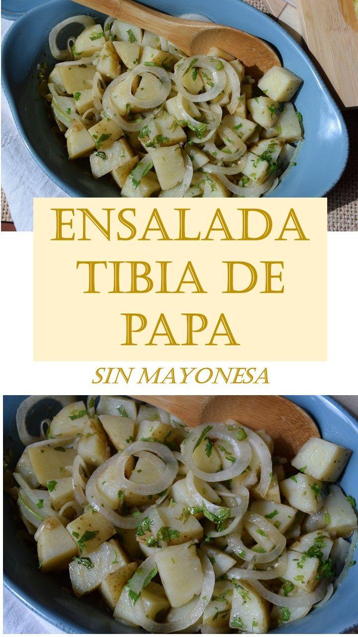 Ensalada tibia de papa a la italiana-sin mayonesa