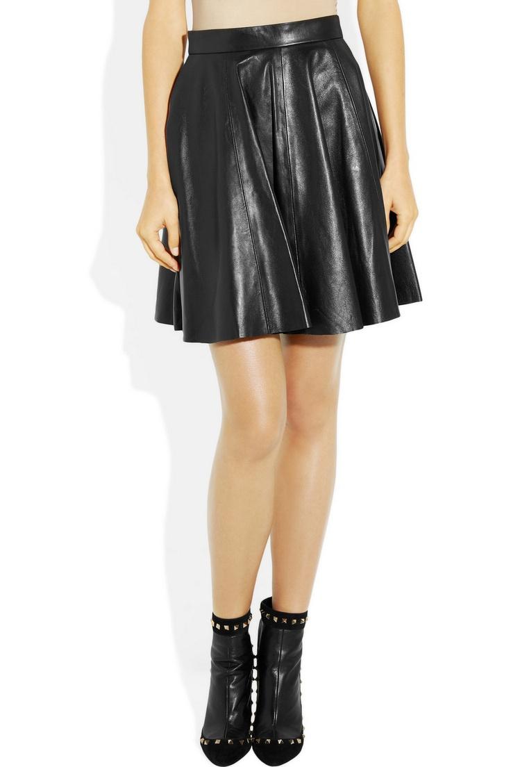 MARKUS LUPFER  Leather circle skirt