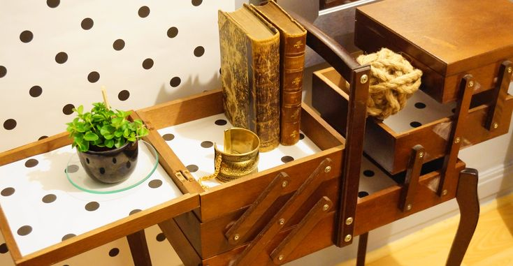 Customisation d'une boîte à coudre vintage by MaHous'in Déco