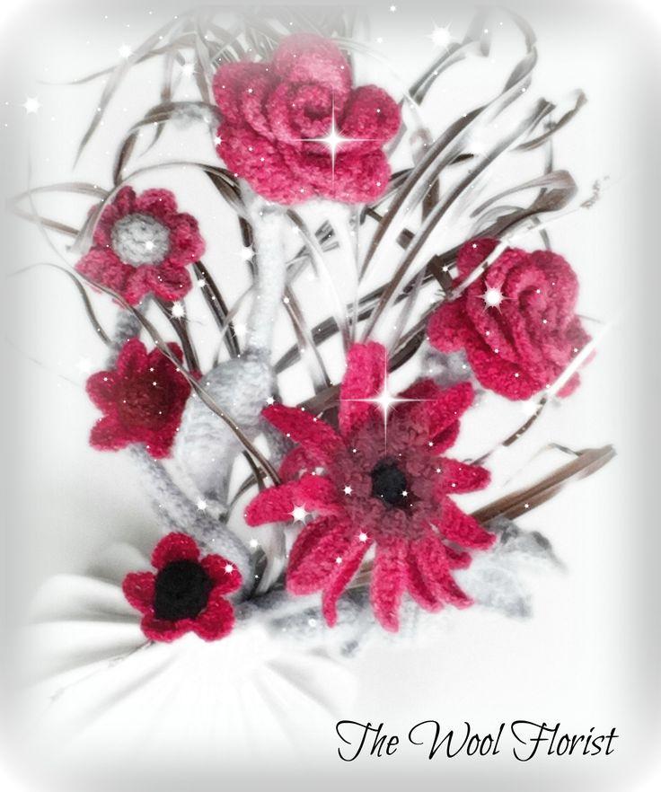 8 besten Crochet Flowers Bilder auf Pinterest | Häkelblumen ...