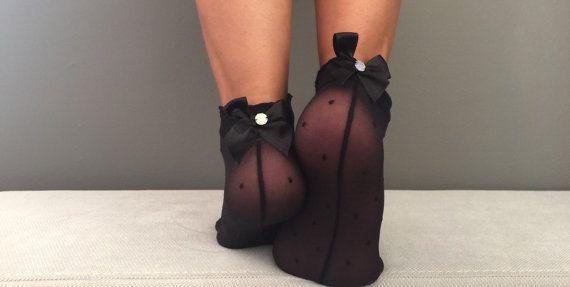 Socks Women's Socks Transparent Socks Nylon Ankle by Muggyshop