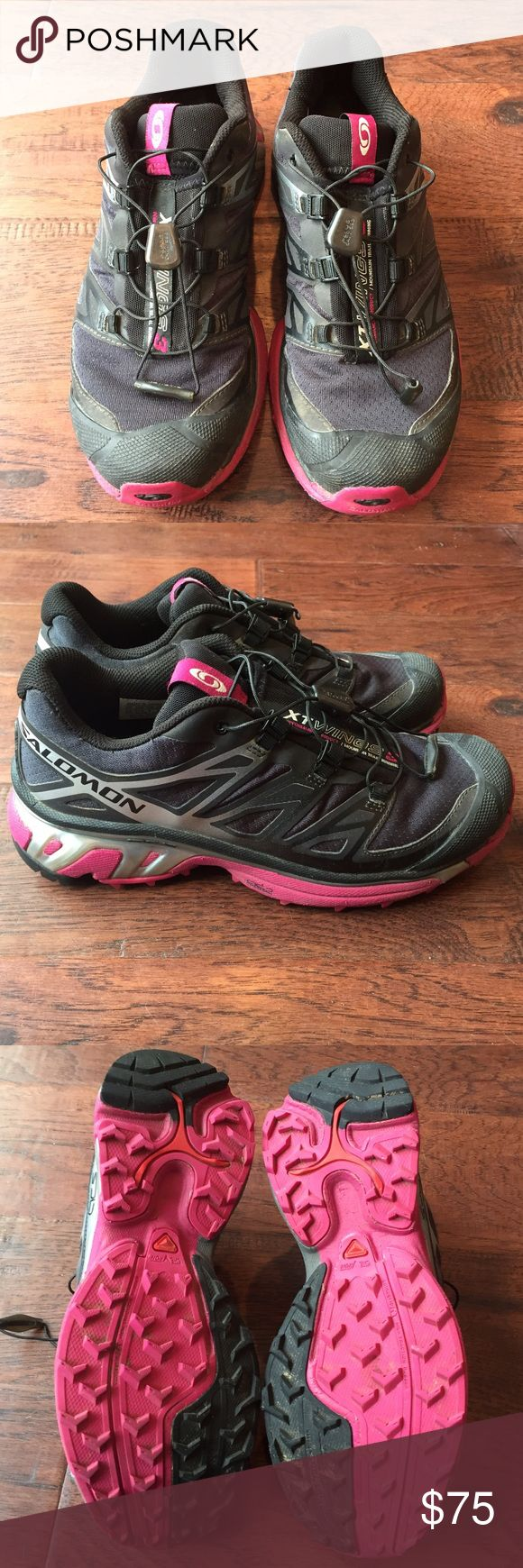 Salomon XT Wings 3 Trail Running Shoes Salomon - XT Wings 3 - Trail Running Shoes - Size 6 - Worn a few times, but in great condition - Smoke Free Home Salomon Shoes Athletic Shoes