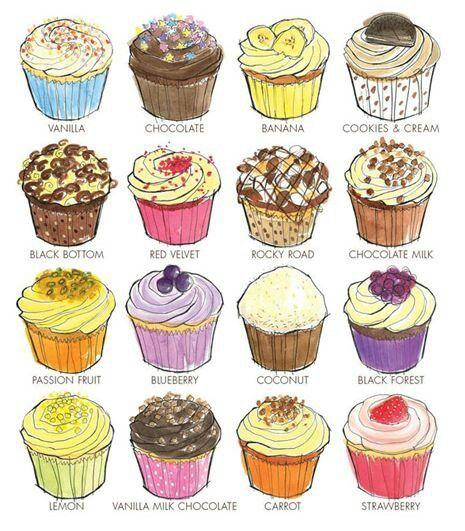 Cake Art Flavours : Cupcake Flavors Bakery Design, Food, Stuff, Ideas ...
