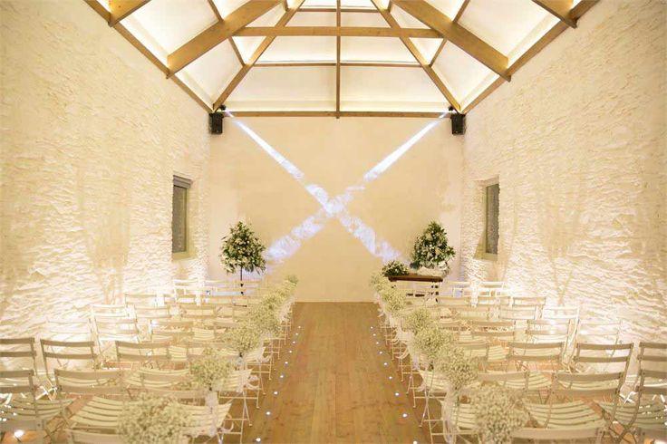 blank canvas stunning ceremony room