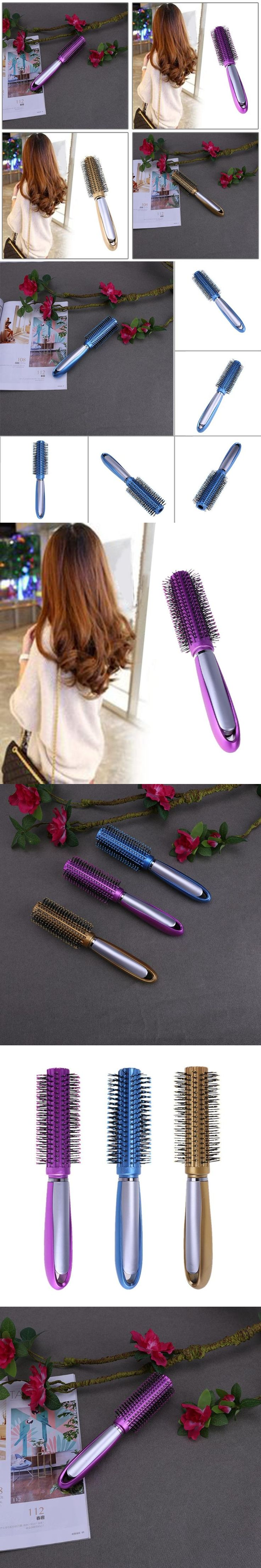 Straight Curly Wavy Hair Comb Roll Brush Professional Hair Style Anti-static ABS Shape Combs Hair Care Pin Cushion Comb Brush