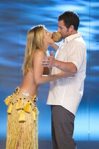 Jennifer Aniston and Adam Sandler on set of there movie Just Go With It I love this movie! #thatsbeauty
