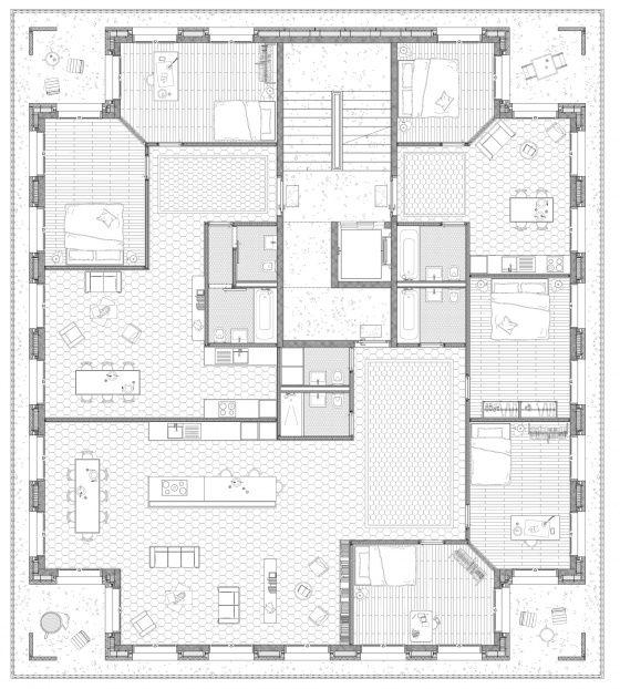 die besten 25 grundriss mehrfamilienhaus ideen auf. Black Bedroom Furniture Sets. Home Design Ideas