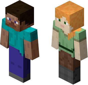 Minecraft doesn't really have characters, but the player and mobs embody many tropes. Steve? / Alex?The player character, who wakes up in an unknown land and does whatever they want. The Aloner: Only applies to single-player. Action Girl: Well, …