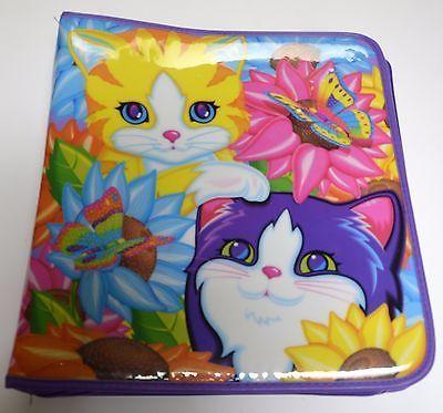 LISA FRANK Kittens Cats Butterflies 3 Ring Zippered Trapper Keeper Binder USED