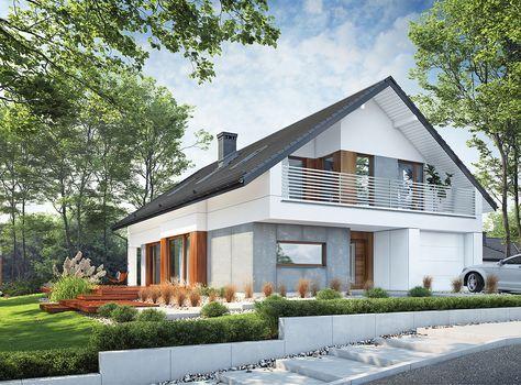 DOM.PL™ - Projekt domu DPS Nicea CE - DOM DPS1-39 - gotowy projekt domu