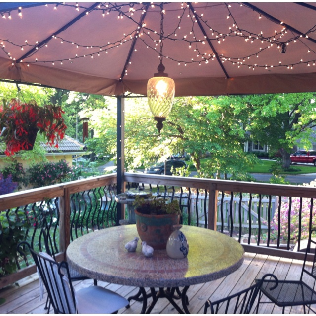 Love The Lights Under Umbrella Decor Ideas Pinterest