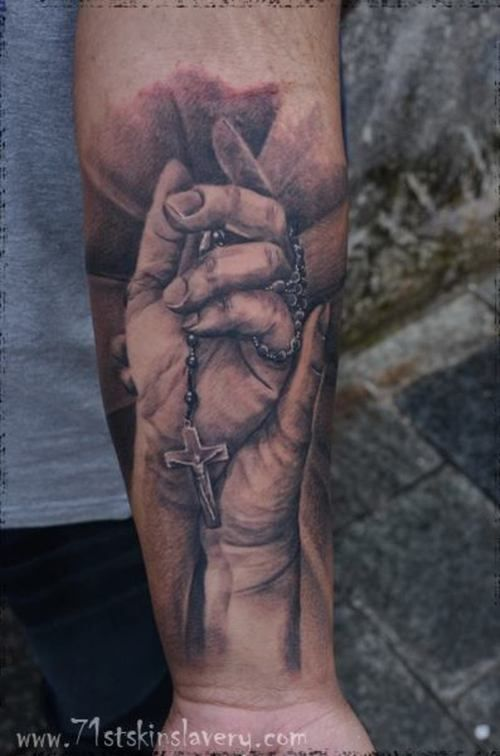 Praying Hand Tattoo - http://16tattoo.com/praying-hand-tattoo/