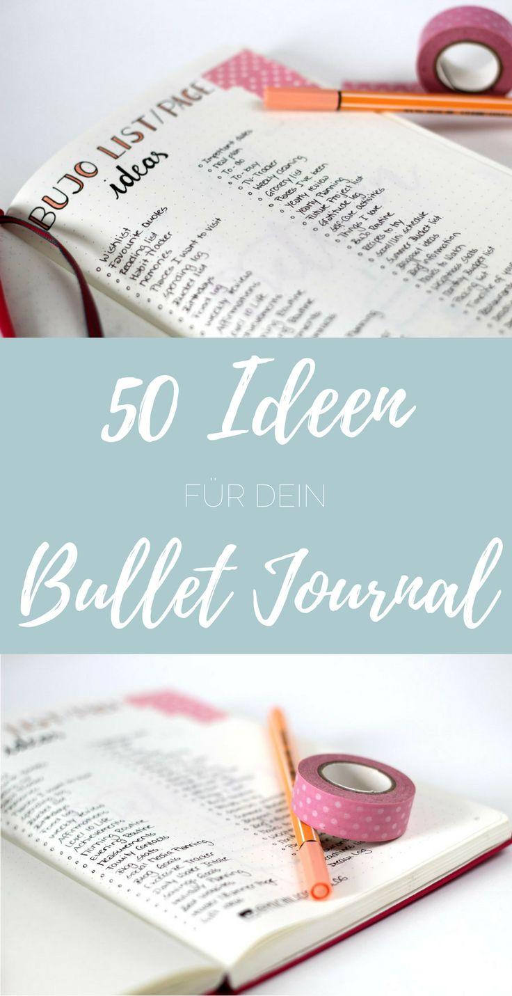 {bullet journal} 50 Ideen für dein Bullet Journal - michilicious