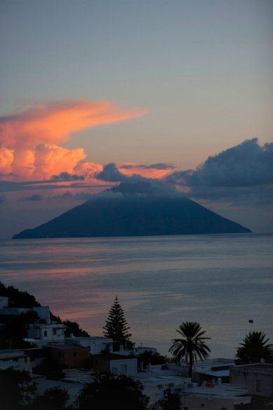 Looking out to Stromboli from the Hotel Raya on Panarea