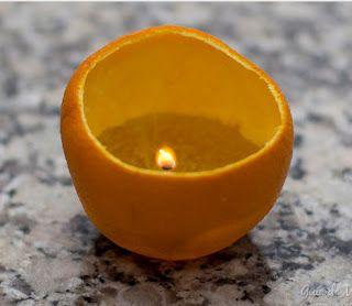 Apenas Modelo e Molde: Vela em casca de laranja  -  dica