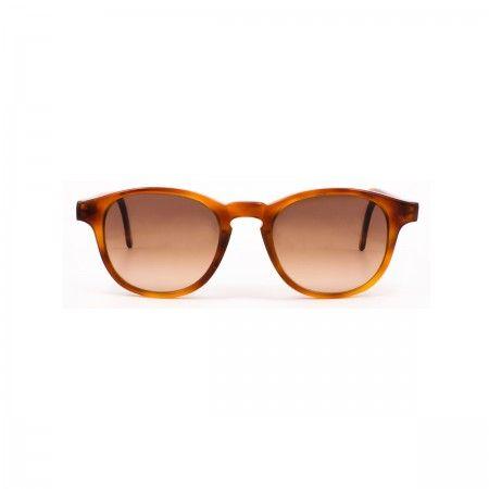 Gordon cc sunglasses with a honey tortoise frame. Gradient brown lenses.