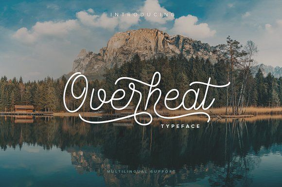 Overheat Typeface - Script  Overheat Typeface - Script - 1  Overheat Typeface - Script - 2  Overheat Typeface - Script - 3  Overheat Typeface - Script - 4  Overheat Typeface - Script - 5  Overheat Typeface - Script - 6  Overheat Typeface - Script - 7 Overheat Typeface  Overheat Typeface is a hot font with lots of alternates and OpenType features, perfect for a design that stands out even if it's a logo, packaging, web, homeware design or simply a stylish text overlay to any background image.