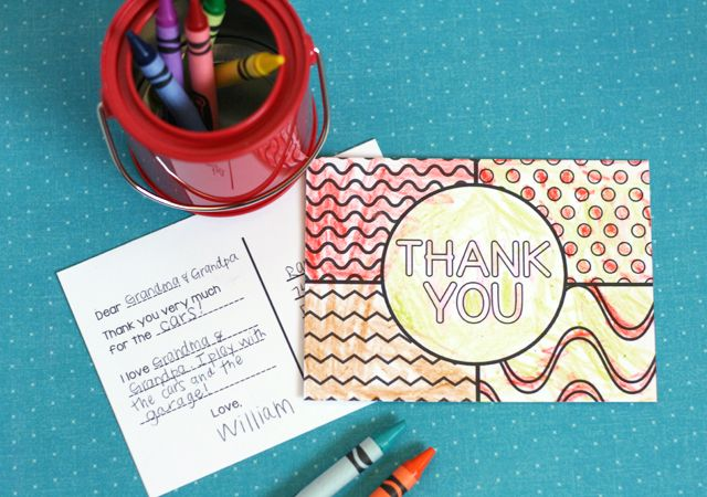 Printable Thank You Cards for Kids - My Sister's Suitcase - Packed with Creativity