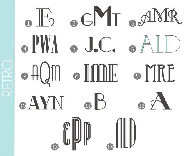 Monograms Made Easy: Retro Fonts   Damask Love Blog