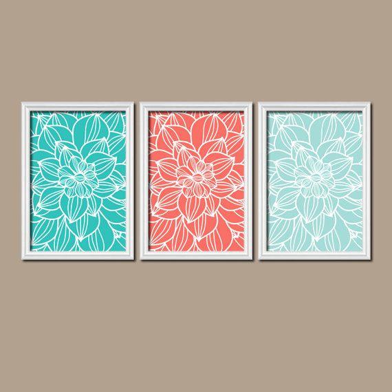 Bathroom Wall Decor Aqua : Best ideas about coral walls bedroom on