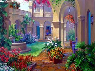 Free Eden Colors 3D Garden Wallpapers, Eden Colors 3D Garden Pictures, Eden Colors 3D Garden Photos, Eden Colors 3D Garden #12062 1680X1050 wallpaper