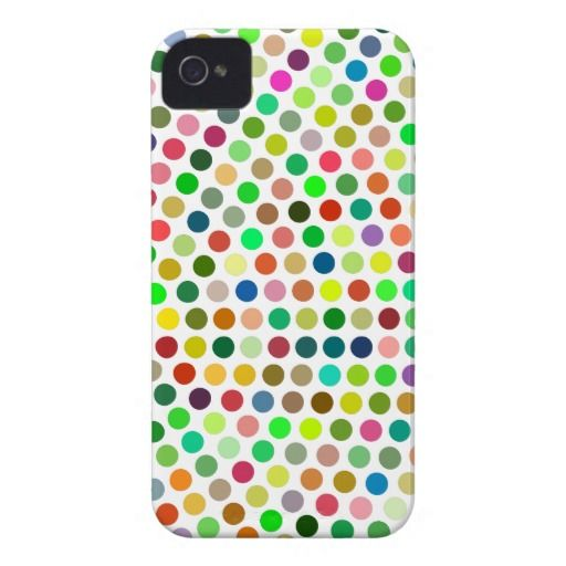 Colorful dots iPhone 4 covers
