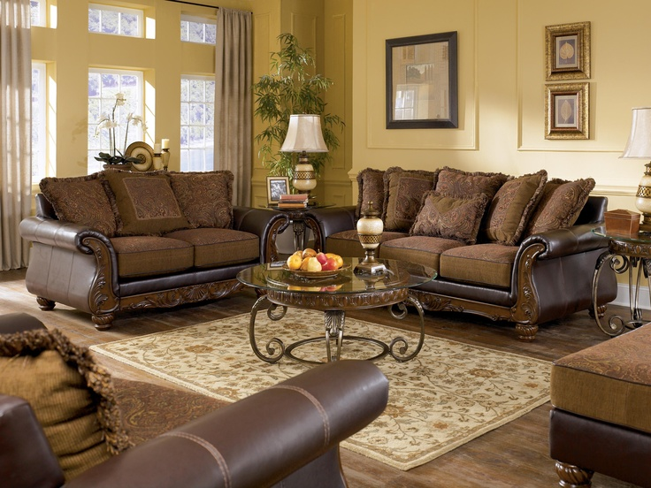 Wilmington   Walnut Traditional Exposed Wood Sofa With Loose Pillow Back By  Signature Design By. Living Room ...