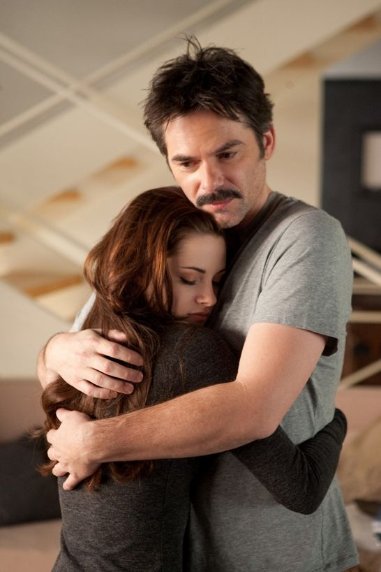 I loved this part in the movie.Charlie Knew she felt different but decided he didn't care.Bella was back and he'd gained a granddaughter.