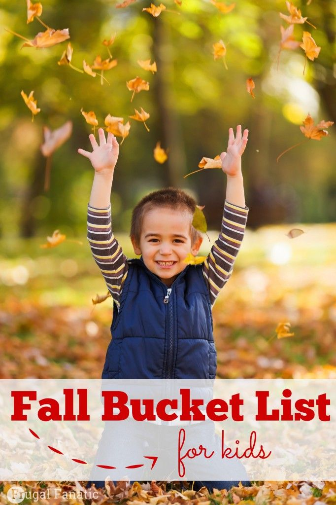 Trying to find fun activities for your kids to do during Fall? Make a Fall bucket list! Here are some fun ideas to try with your kids