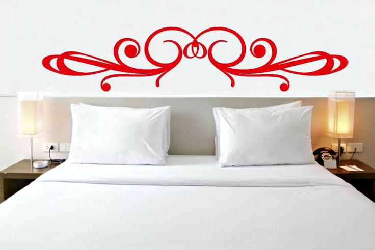 adesivo de parede cabeceira de cama casal solteiro arabesco