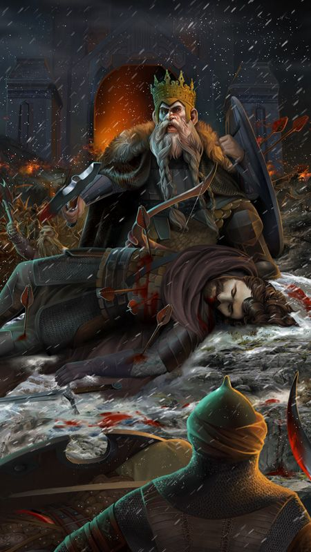 King Brand and King Dain Ironfoot by steamey on DeviantArt ~ A few sturdy warriors led by Brand and Dain fought bravely before the Gate of Erebor, which was not taken. Dain was killed as he stood defending the body of his ally Brand. The defenders of the Mountain were now under siege.