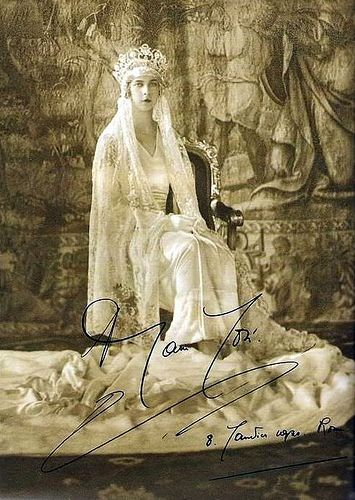 Italian History ~ Princess Marie Jose of Italy as bride   #italianhistory