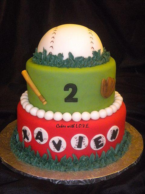 Baseball Theme Cake by Cakes with L.O.V.E., via Flickr